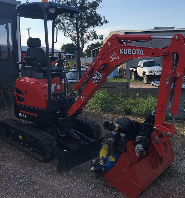 KUBOTA 17 3 for hire